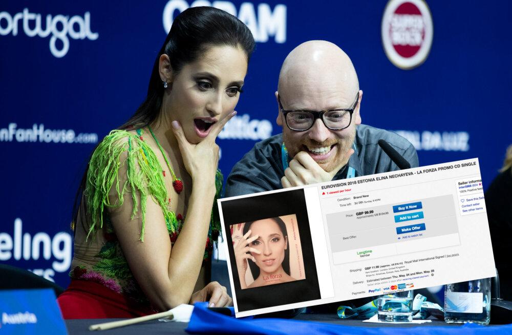 Elina Nechayeva singel saja euro eest! Internetis kasseeritakse tasuta saadud Eurovisioni pressinänniga uskumatuid summasid