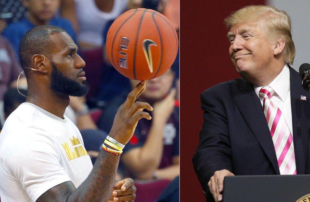 LeBron James ja Donald Trump