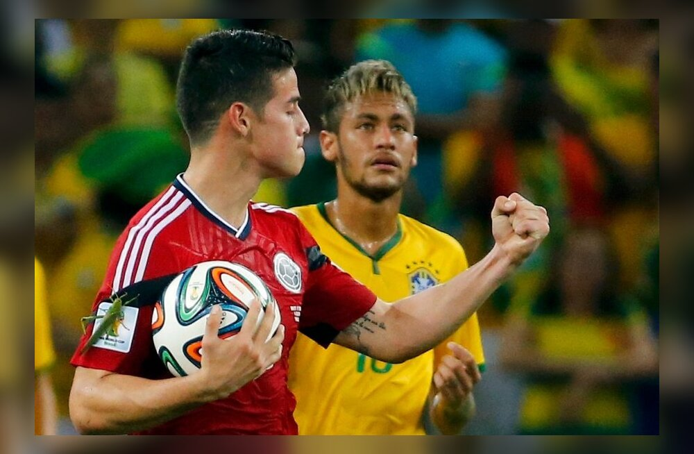 James Rodriguez, Neymar
