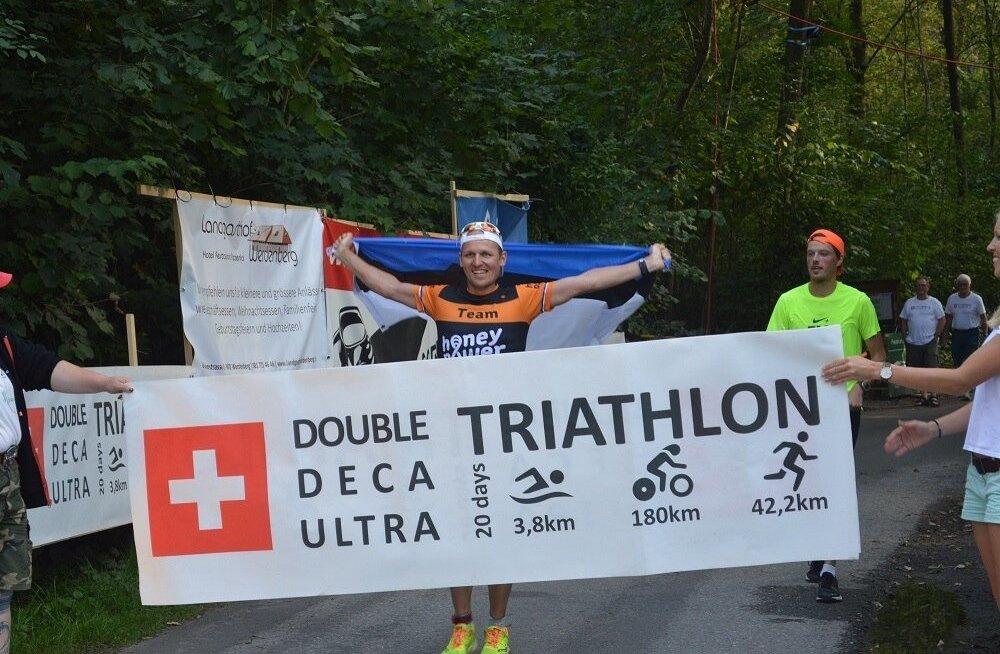 Rait Ratasepp kümnekordse triatloni finišis
