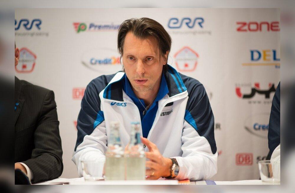 Eesti võrkpallikoondise uue peatreeneri Gheorghe Cretu esimene pressikonverents