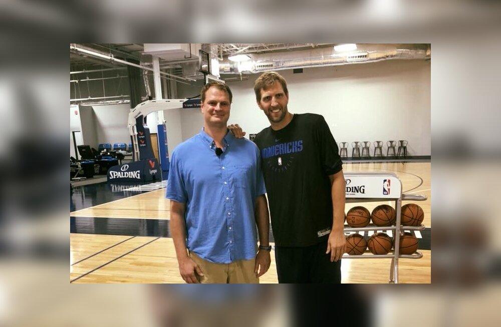 FOTOD   Dallasesse naasnud Martin Müürsepp kohtus ka Dirk Nowitzkiga