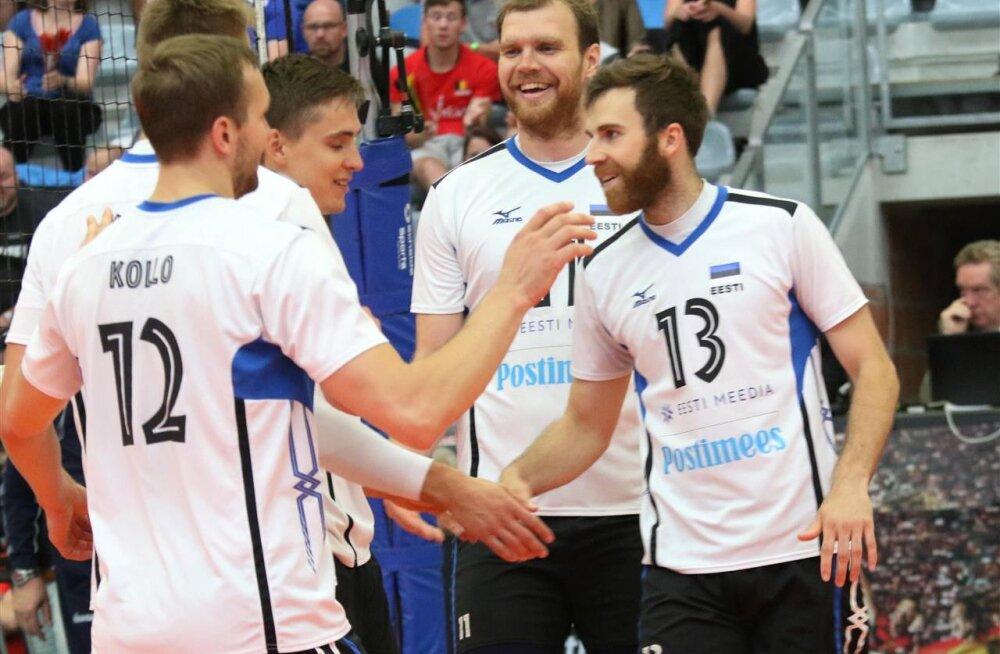 Eesti võrkpallikoondist lahutab MM-ist vaid üks võit, kuid viimane vastane Belgia lihtsalt kolkis täna Saksamaad