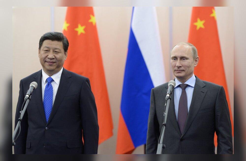 Vladimir Putin ja Hiina president Xi Jinping.