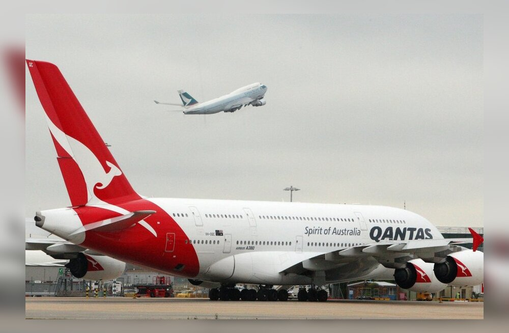Mootoririkkega Qantase hiigellennuk tegi hädamaandumise