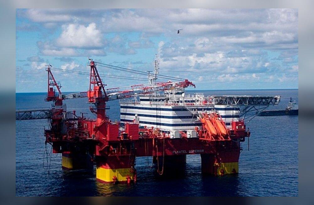 Statoili naftaplatvorm keset Põhjamerd