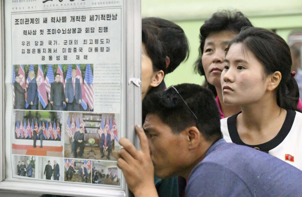 Põhja-Korea riigimeedia: Trump lubas tulevikus sanktsioonid kaotada, ka Kim on valmis head tahet näitavateks žestideks