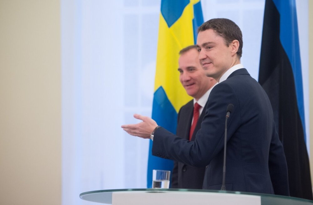 Taavi Rõivas ja Rootsi peaminister Stefan Löfven pressikonverentsil