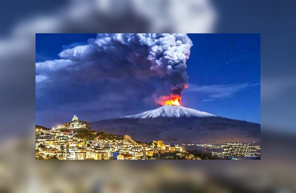 Самые горячие фото проснувшегося вулкана Этна