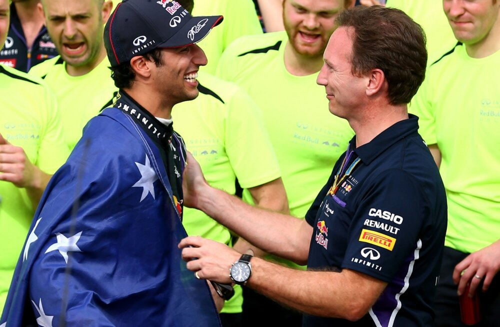 Daniel Ricciardo ja Christian Horner