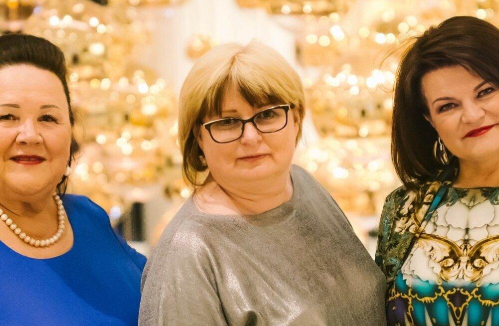 Maret Tamra (vasakult) Eda Mölder ja Kersti Toots.