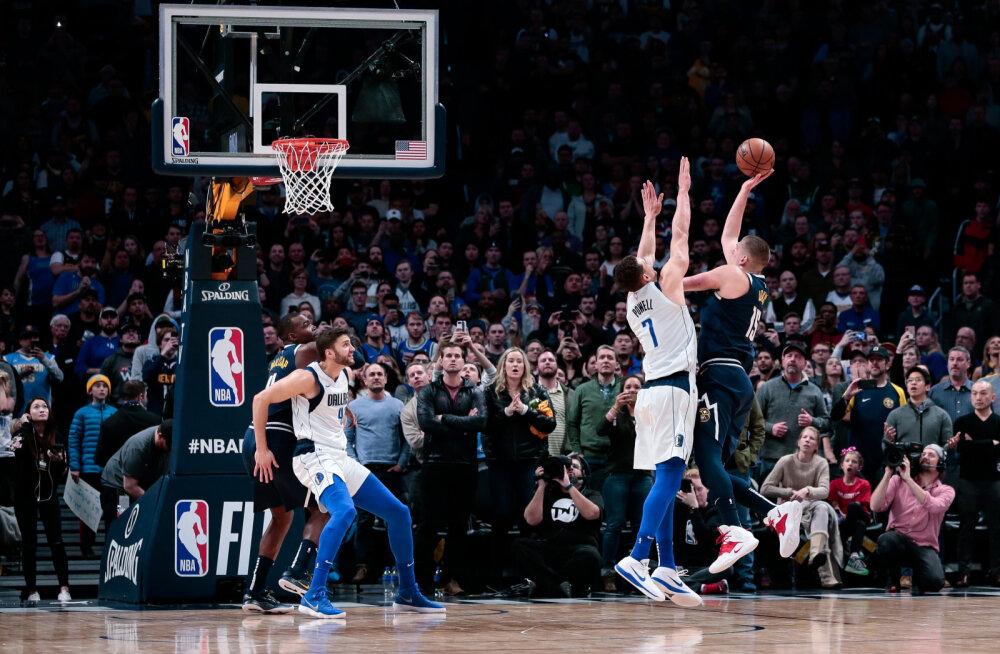 VIDEO | Euroopa duell NBA-s: Doncic ja Jokic vahetasid viimaste sekundite viskeid, peale jäi serblane
