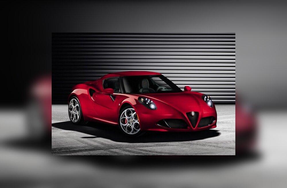 Alfa Romeo avaldas keskmootoriga kupee 4C