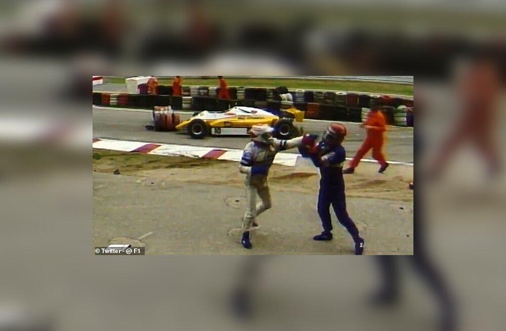 Nelson Piquet vs Eliseo Salazar rusikavõitlus 1982. aastal.