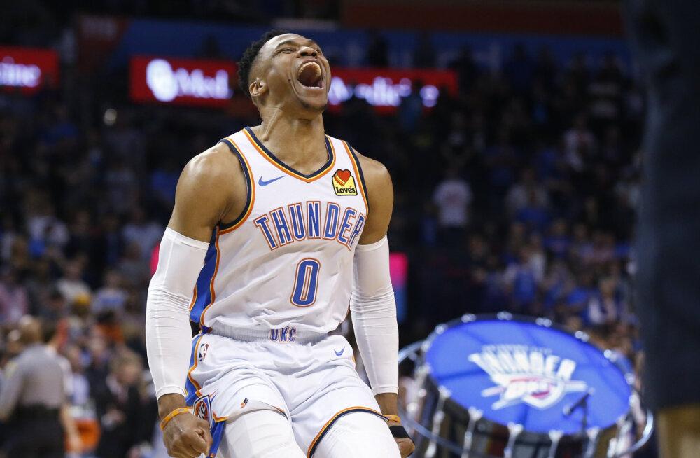 """""""20+20+20 - nad teavad, mida see tähendab..."""" Üliharuldase statistilise saavutusega hakkama saanud Westbrook pühendas mängu jõhkralt mõrvatud räpparile"""