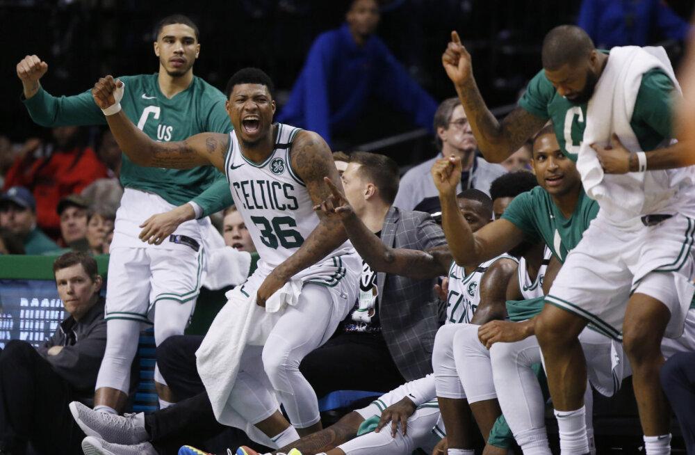 VIDEO   Celtics tegi Cavaliersiga sotid selgeks juba avaveerandil