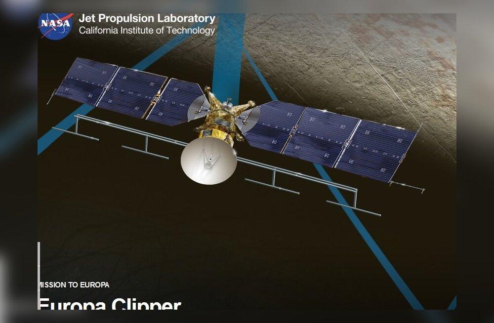 Kosmosesond Europa Clipper läheb Jupiteri kuult elu otsima päikese-, mitte tuumajõul