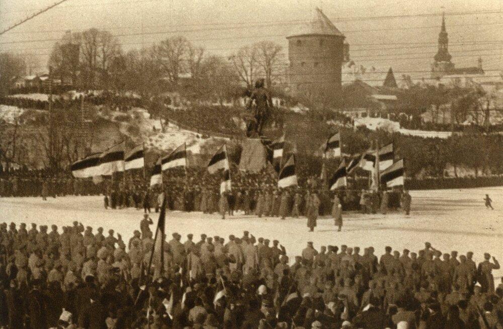 1919. aastal 24. veebruari tähistamine Peetri platsil, Tallinnas