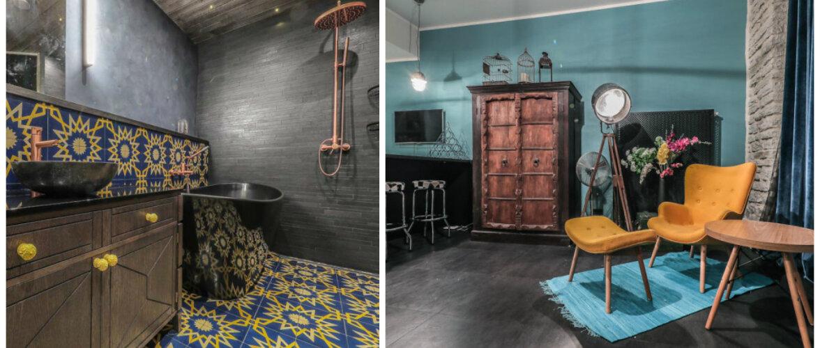 Julgete värvide ja mustritega kujundatud tõeliselt ekstravagantne kodu!