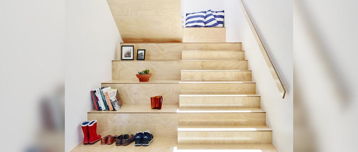 Kolm stiilset vineerist treppi, mis täidavad ka panipaiga ülesannet