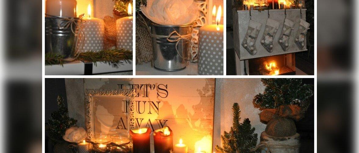 """Fotovõistlus """"Pühad minu kodus"""": Imeliselt kaunistatud kamin"""