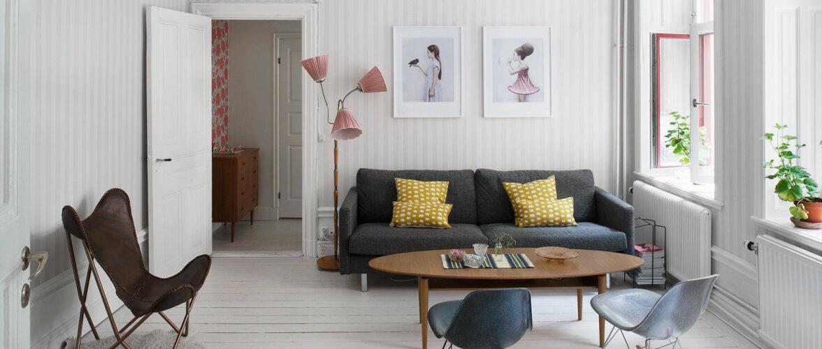 Helehalli mähitud kergete värvinüanssidega kodu