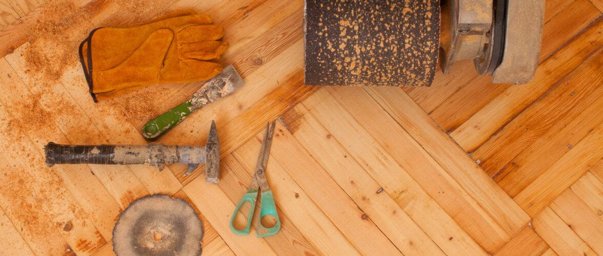 Auk, vesi, praod põrandas. Kuidas neid kahjustusi parandada ja mida saab taastada?