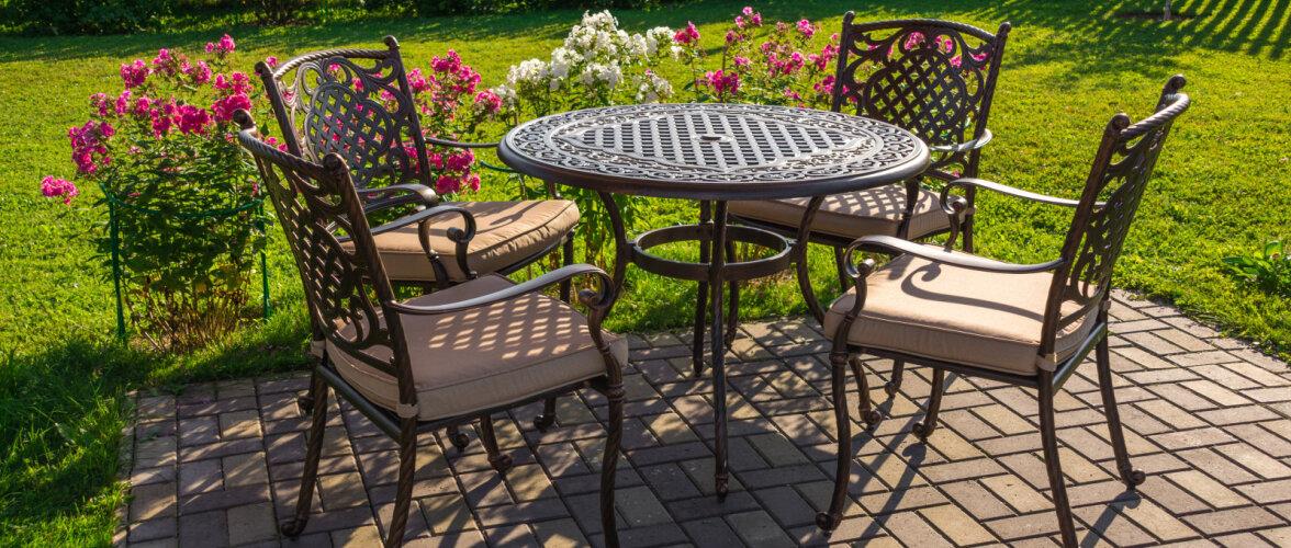 Hea aiamööbel on mugav ja ilmastikule vastupidav