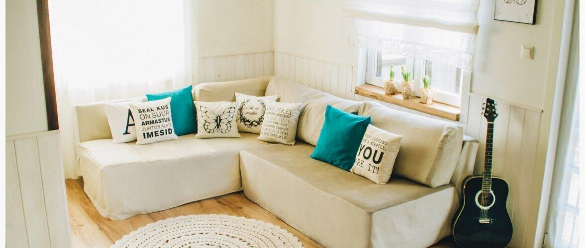 """""""Minu stiilne elutuba"""": Väikese eelarvega loodud kaunis noorte kodu"""