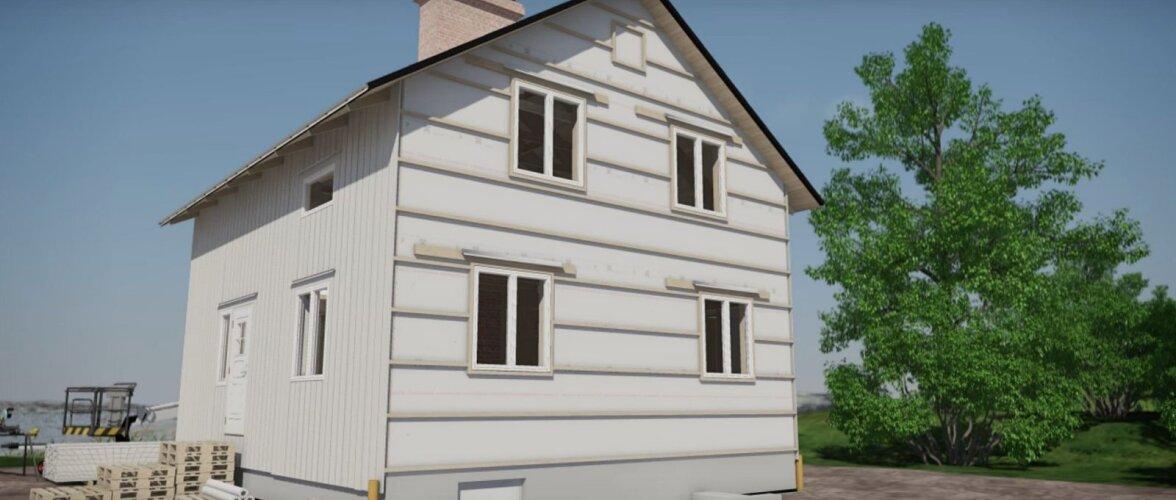 Vaata videost detaile, kuidas majale paigaldada välisvoodrit