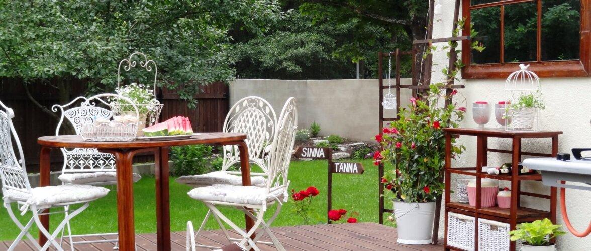 Romantiliseks kujundatud terrass