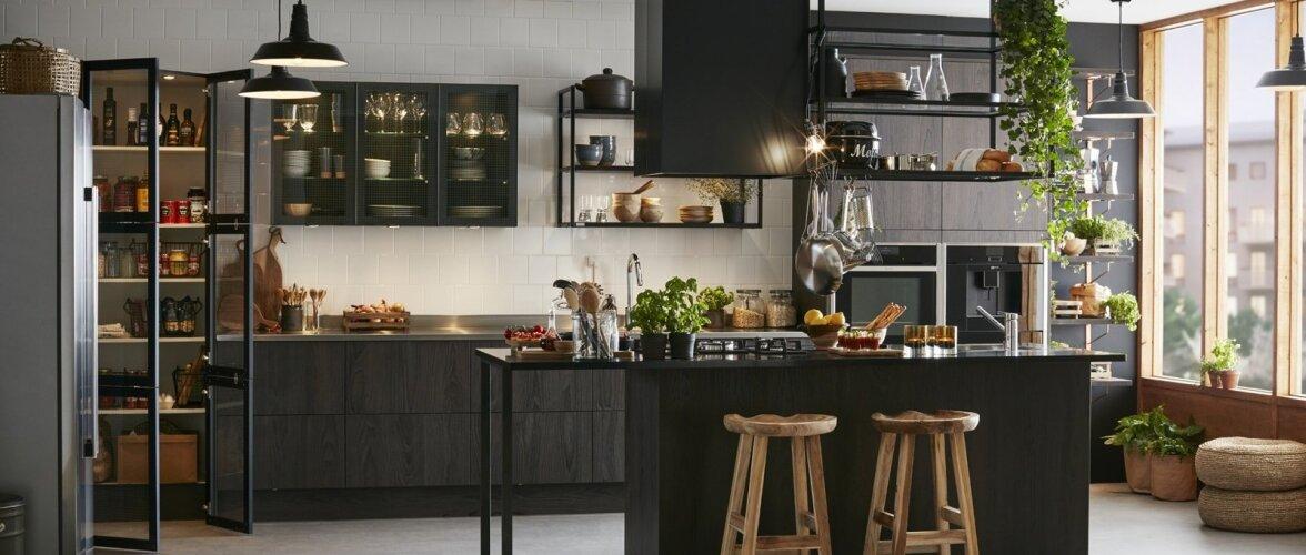 Köögitrendide peamisteks märksõnadeks on must värv ja bistroostiil.