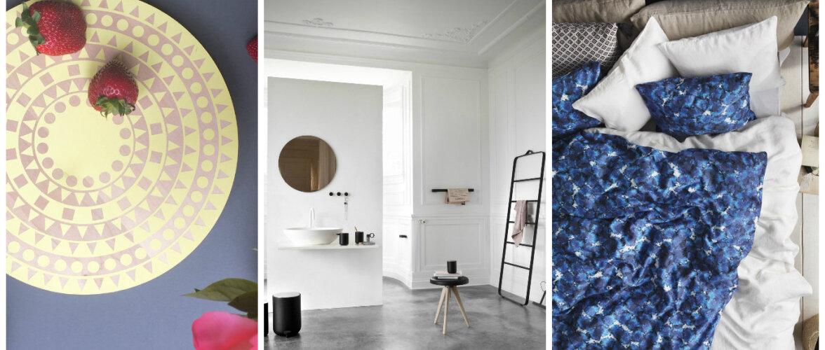 Nopime disaini: kõlar-valgusti, imelised mustrid voodipesus ja moodsat vannituppa