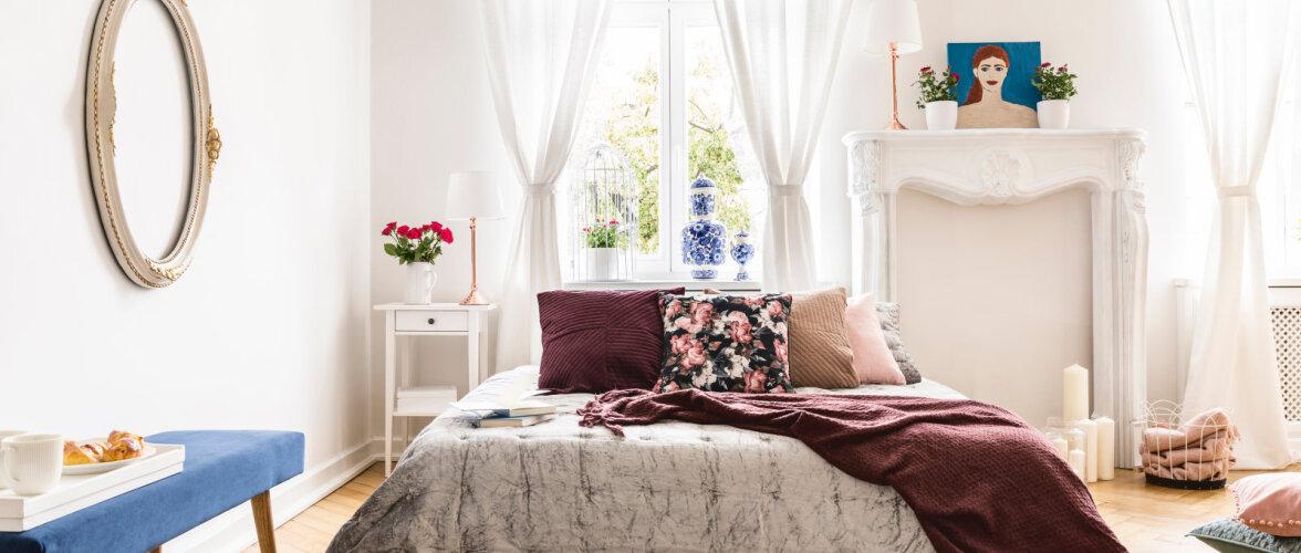 Trendikas magamistoas kohtuvad eri ajastud ja stiilid