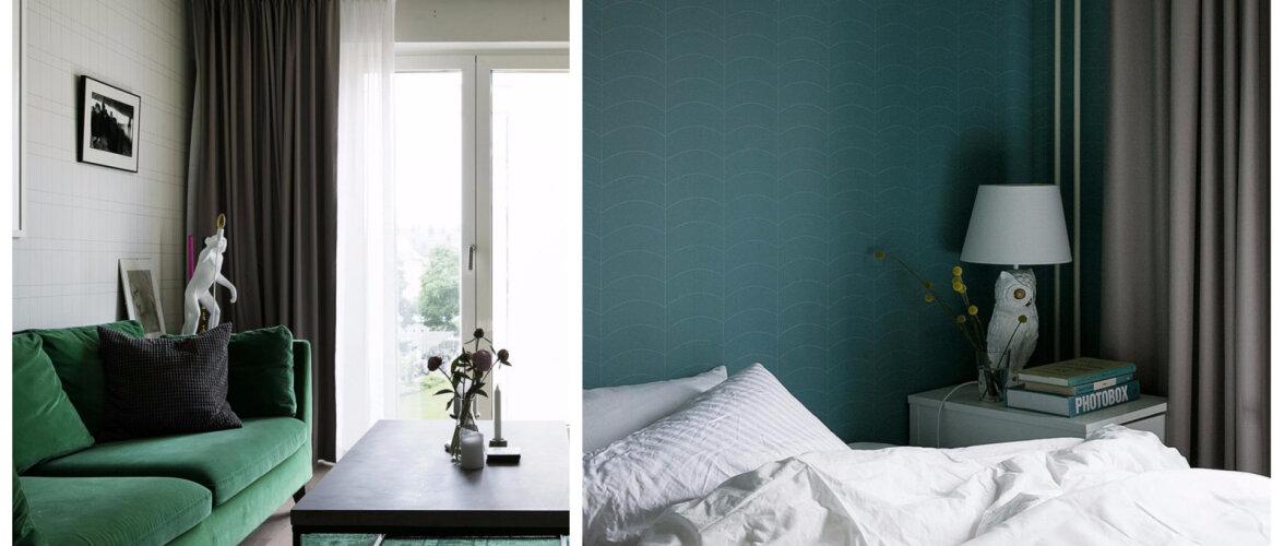 Oliivivärvidest samblatoonideni — rohelise ja valgega kujundatud kontrastirikas kodu