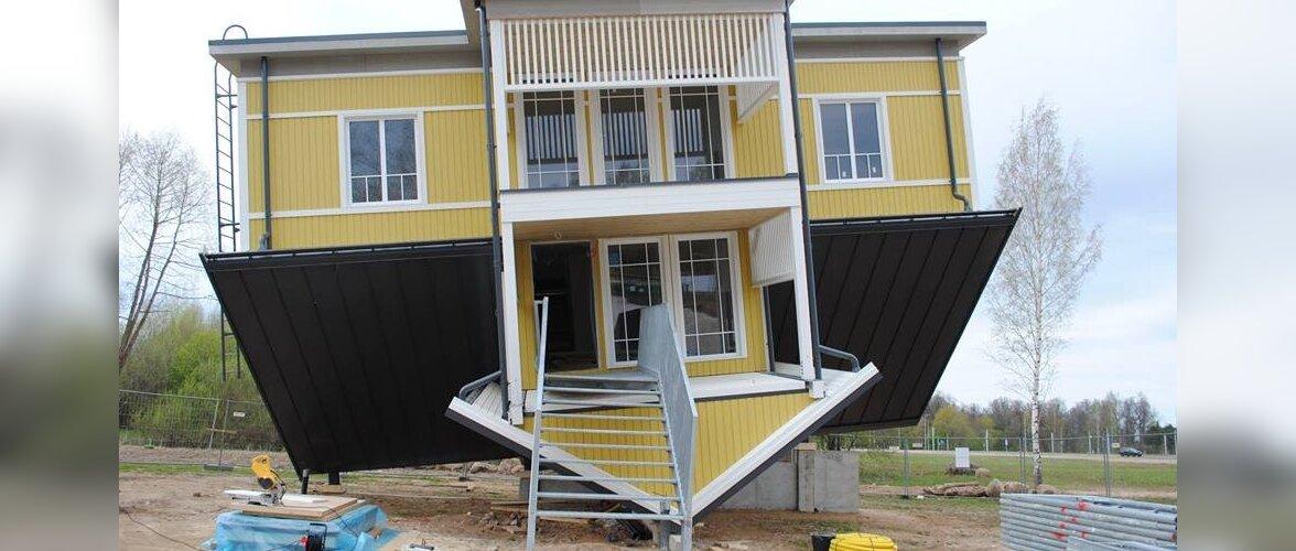 Eesti esimene tagurpidi maja on väliselt valmis. Sisustus tuleb sisse ehitada