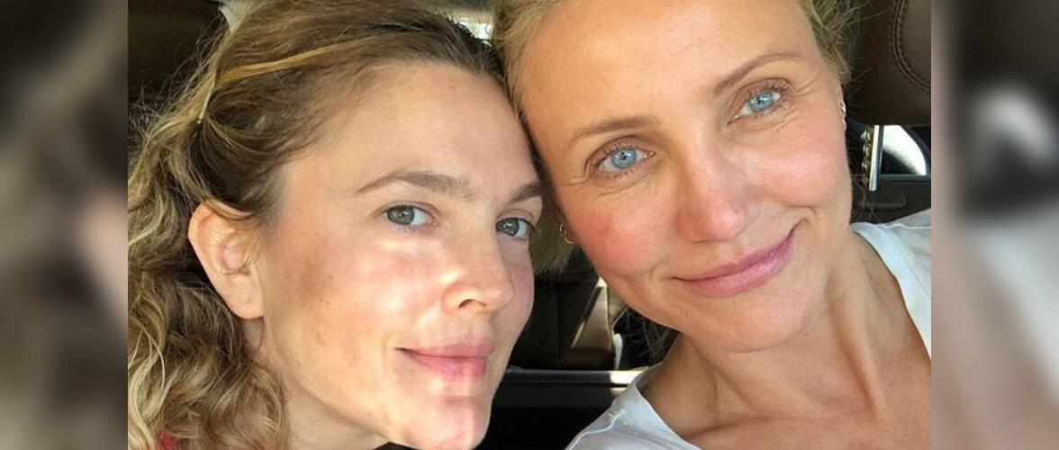 PÄEVA INSTA   Väga kaunis! Drew Barrymore ja Cameron Diaz poseerisid koos meigivabalt