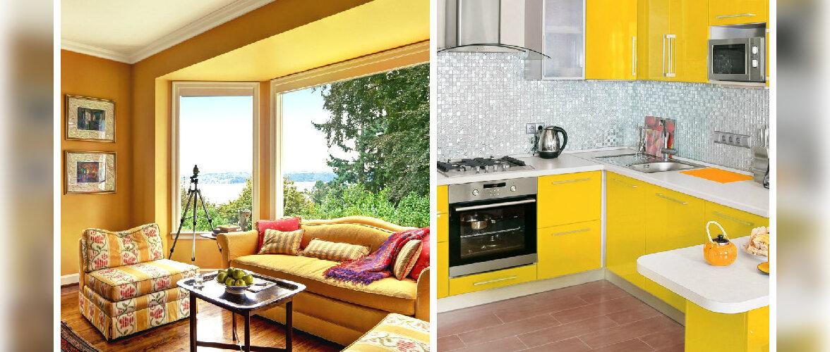 FOTOD: Kollane värv lisab interjöörile sära
