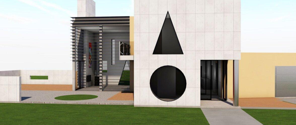 Vilen Künnapu näitab Kvissentali elamupiirkonnas tipparhitektuuri