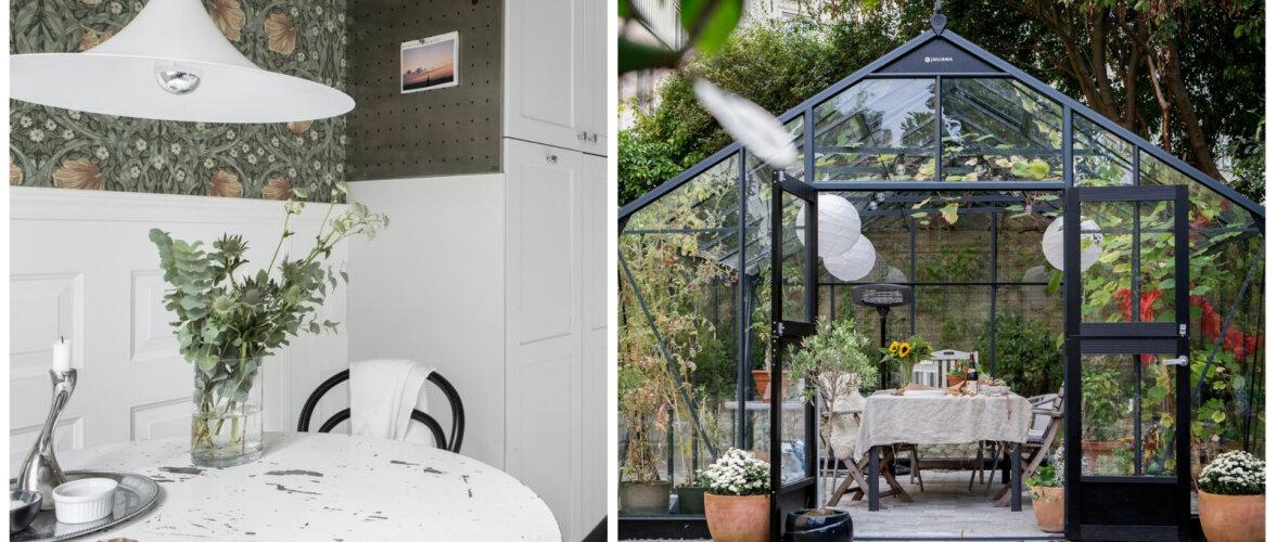 Loodust austav linnakorter põneva aiamajaga