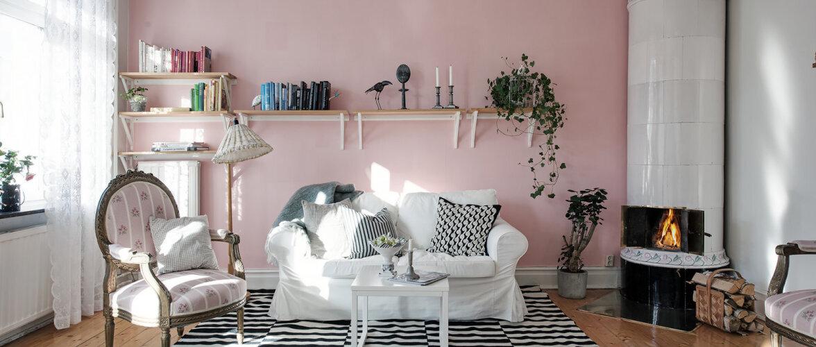 Roosast inspireeritud romantiline kodu