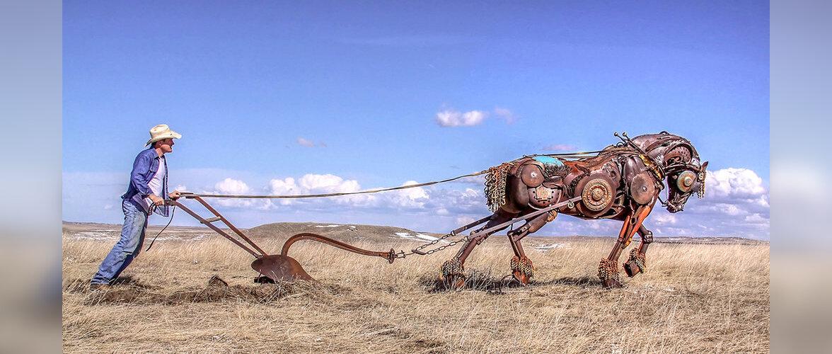 FOTOD | Vanadest põllutöömasinatest valmivad kunstniku käe all imelised skulptuurid