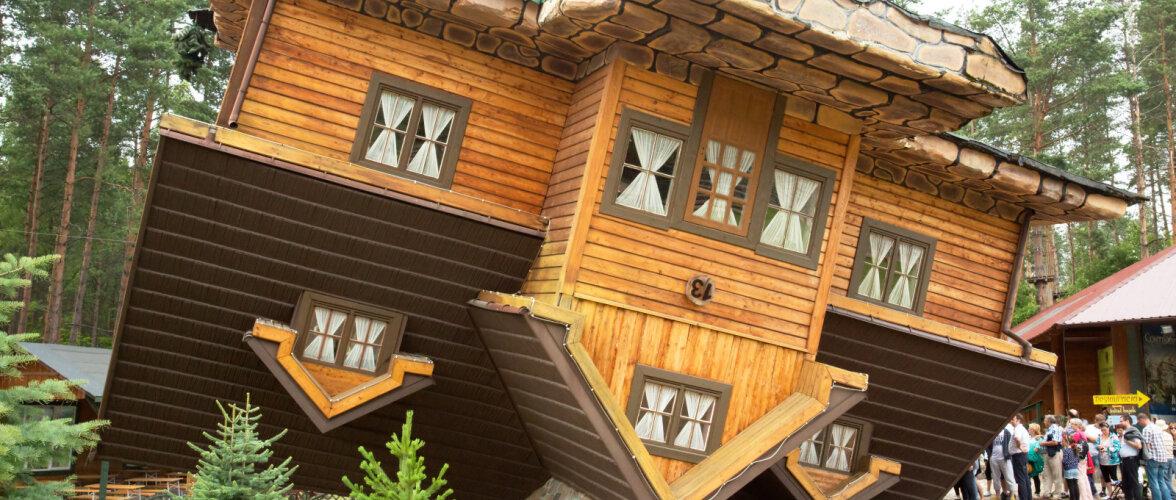 Selle suve turismimagnet: Tartusse ehitatakse maja, mis seisab tagurpidi