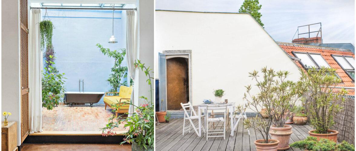 Teistmoodi kujundatud korter tõeliselt erilise vannitoa ja katuseterrassiga