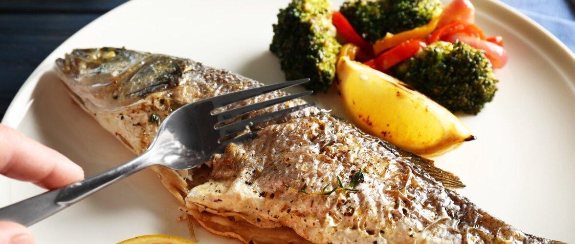 Küpsetatud kala.