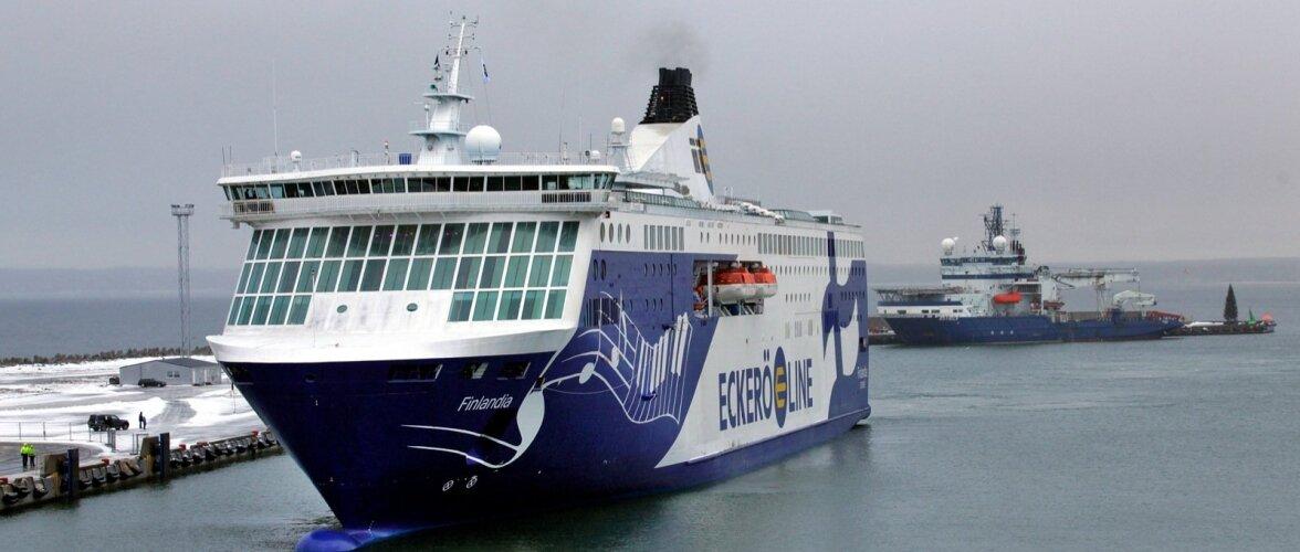 Tallinna-Helsingi liini Eckerö Line uus reisilaev, 2080 reisijat mahutav Finlandia esimene reis