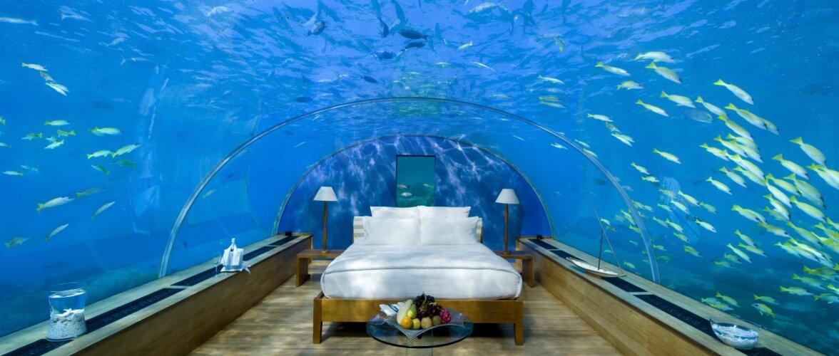 Vaata pilte maailma kõige ägedamatest veealustest hotellitubadest!