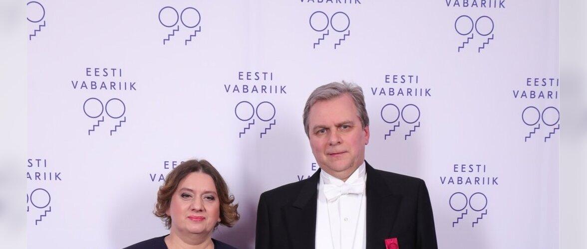 Vabaerakonna esimees Andres Herkel ja proua Kaie Herkel