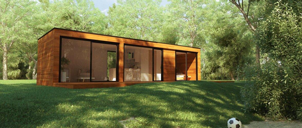 Maja, mis valmib vaid kahe kuuga ja hoiab kokku kuni 40% küttekuludelt