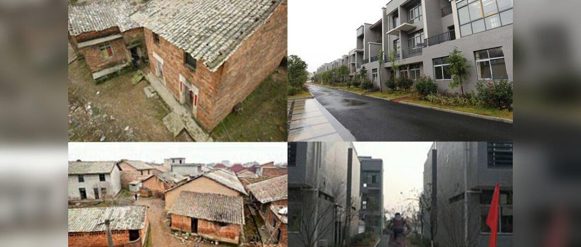 Hiina multimiljonär lammutas endise koduküla ja ehitas külaelanikele luksuslikud korterid